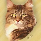 Maine Coon Cat Painting by Sarahbob