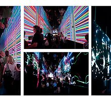 Brisbane Festival Liquid Interactive Lightscope  by Jaxybelle