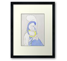 Joseph, Mary and Child, the Archangel Gabriel and the Lily Framed Print