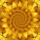 Bipolar Yellow Sunflower by Beatriz  Cruz