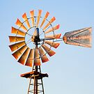 Vintage Windmill in the LIghtof the Setting Sun by Kenneth Keifer