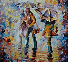 NIGHT RAIN - LEONID AFREMOV by Leonid  Afremov
