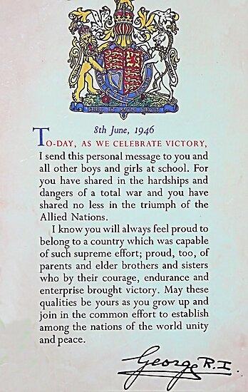 1946 King George VI Certificate by Woodie
