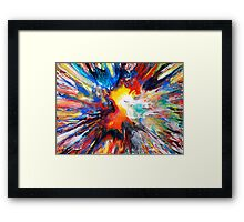 Colourful Spin Painting 24 Framed Print