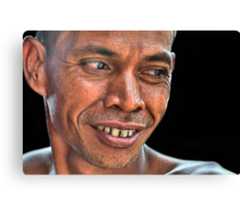 His Smile Canvas Print