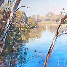 The Goulburn from the Esplanade (Seymour) by Lynda Robinson