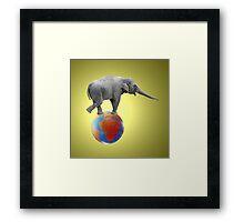 Shrinking Africa Framed Print