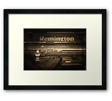 touch typing Framed Print