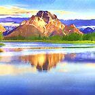 Mountain-landscape Watercolor by ellenspaintings