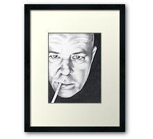 Mark - Smoke and Light Framed Print