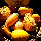 Vignette Photo of Decorative Gourds in a Wicker Basket - Fall Season w/ Autumn Colours  by Chantal PhotoPix