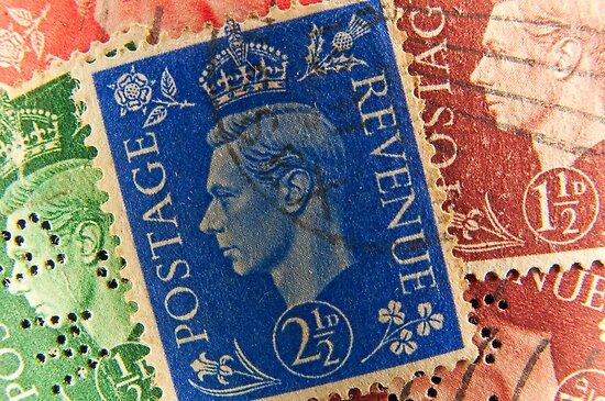 King George vintage stamps. by FER737NG