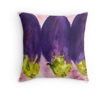 Eggplant Menage a Trois Throw Pillow