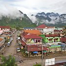 Vang Vieng town, Laos by John Spies