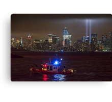 9/11 tribute of lights Canvas Print