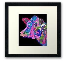 Colorful Bessie the Cow  Framed Print