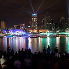 Santos Laser Light Show Brisbane by Iconphotos