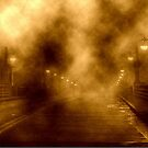 Foggy Night at the Bridge by Holly Martinson