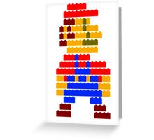 8-bit brick mario Greeting Card