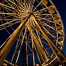 Ferris wheel at twilight by Celeste Mookherjee