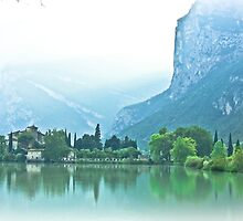 ... romantic fairytale-like fortress, Lake Toblino, Trento, Italy ~ 1 ~ by Rachel Veser