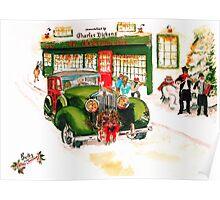 1932 Rolls Royce Woody - Christmas in London Poster