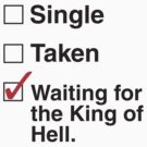 SUPERNATURAL SINGLE TAKEN KING OF HELL by thischarmingfan