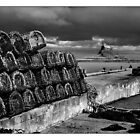 Crab pots at Lindisfarne by Chas Bedford