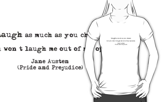 Jane Austen quote, Pride and Prejudice by Violette Grosse
