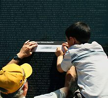The Vietnam Wall 4421 by Mart Delvalle