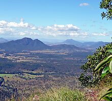 View from Spicers Gap, Qld, Australia by Margaret  Hyde