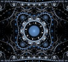 Blue Julian Abstract Fractal by Archetypus