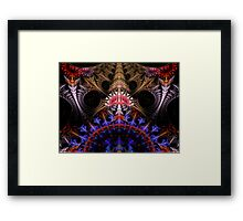 Coronation Abstract Fractal Framed Print