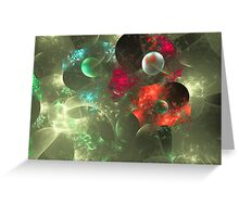 Cosmic Clutter Abstract Fractal Artwork Greeting Card