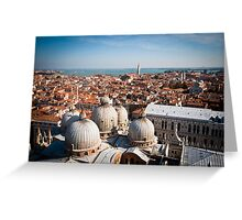 w of St Mark's Basilica from the Campanile tower Greeting Card