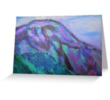 landscape-blue mountains Greeting Card