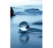 Blue chrystal Photographic Print