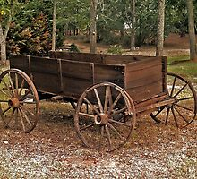Wagon in the Fall by RickDavis