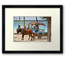 Cidomo horse carts of the Gili Islands 5 Framed Print