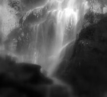 Sailor's Gully Falls in Black and White by Lozzar Landscape