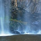 Water Veil Trentham Falls by Lozzar Landscape