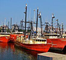 New Bedford fishing fleet by Nancy Richard