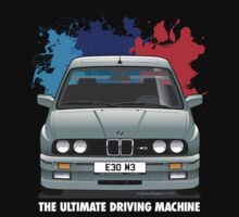 BMW E30 M3 (M Splash) - Dolphin Grey - White Text by Sharknose