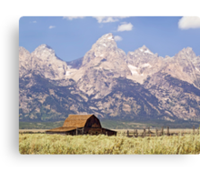 Old Barn on Mormon Row, Grand Tetons, Wyoming Canvas Print