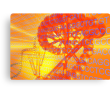 Genetic codes and DNA Canvas Print