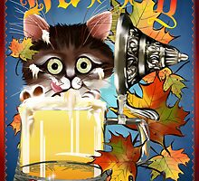Happy Oktoberfest Beer Kitty by Lotacats