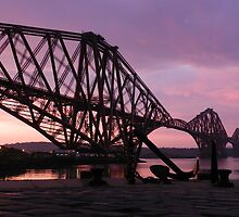 Forth Bridge sunrise by weecritter