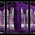 Triptych - Cathedral cloister by Peter Schneiter