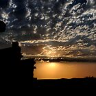 Sunset at Outback Silverton NSW Australia by Bev Woodman