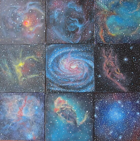 Nine Nebulae by Alizey Khan